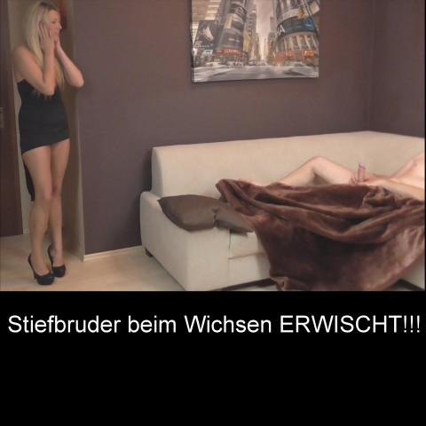 Stiefbruder beim Wichsen ERWISCHT!!!