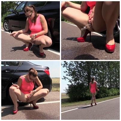 Pissende Heel-Schlampe
