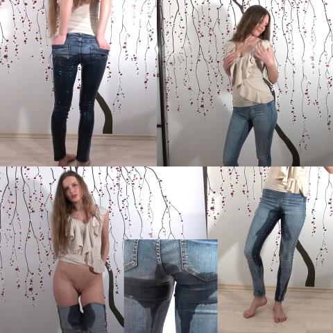Vollgepisste Jeans