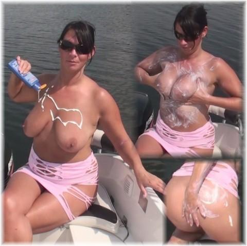 Sonnenschutz für meine dicken Titten