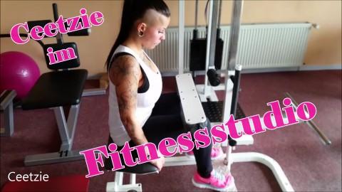 Ceetzie im Fitnessstudio