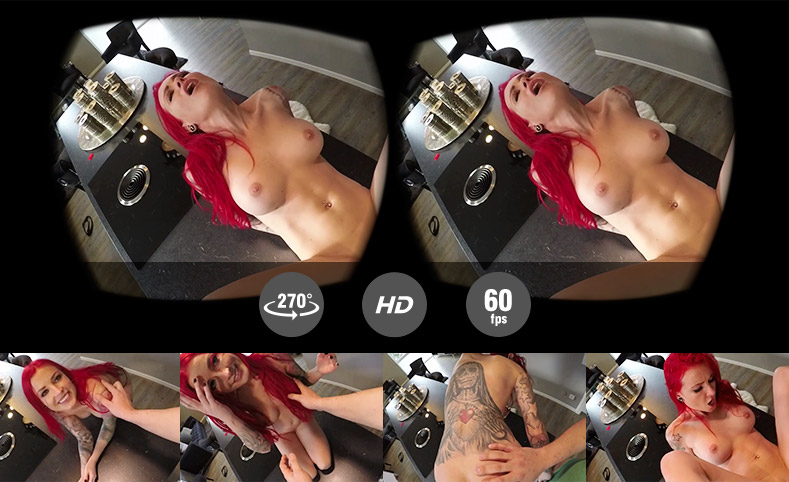 VR Porn - Kochen oder Ficken - auf der Küchenzeile durchgebumst