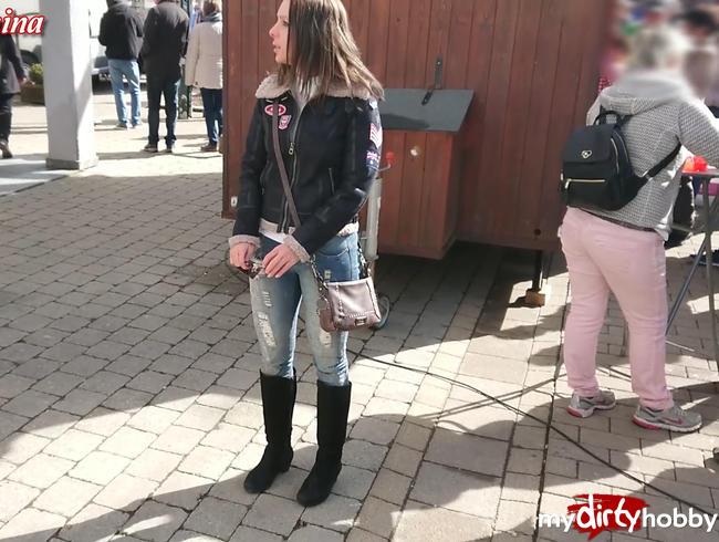 Mitten auf dem Ostermarkt gefickt, Public
