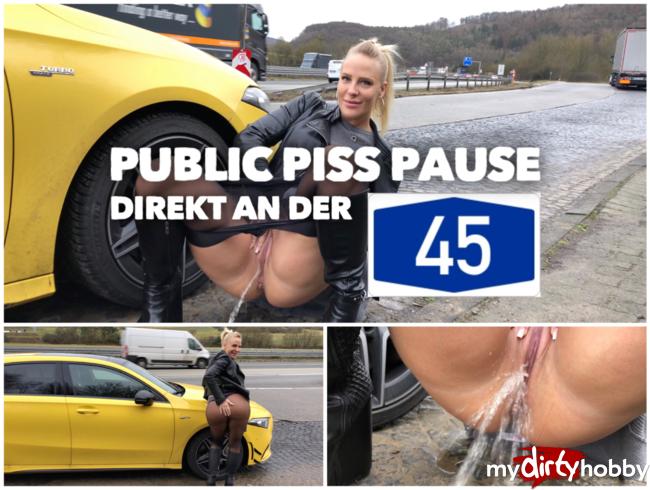 PUBLIC PISS an der A45 | Natursekt Pause auf dem Parkplatz